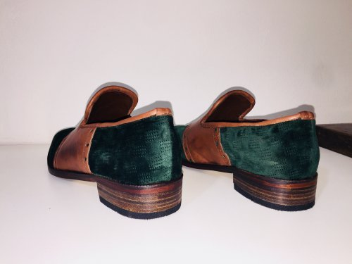 Sapato Mocassim de Veludo Loafer