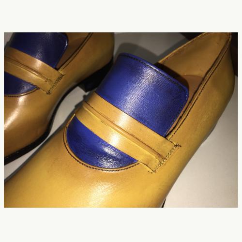 Sapato de Couro Loafer Louis XIV