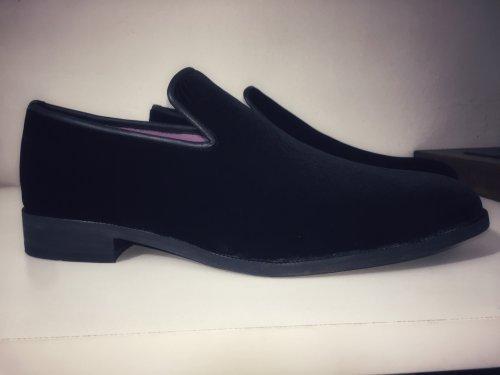 Sapato Masculino Loafer Veludo Alemão Preto