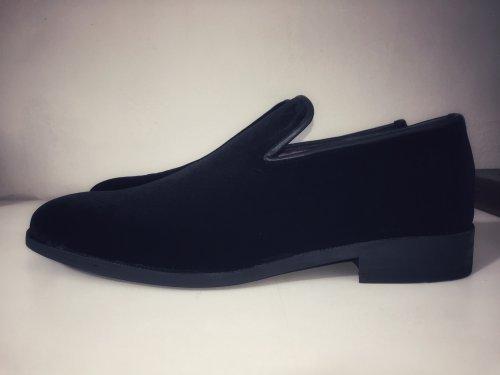 Sapato Loafer E. Marchi Veludo Preto