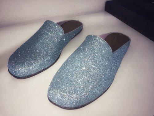 Mule Capri E. MARCHI Glitter Azul