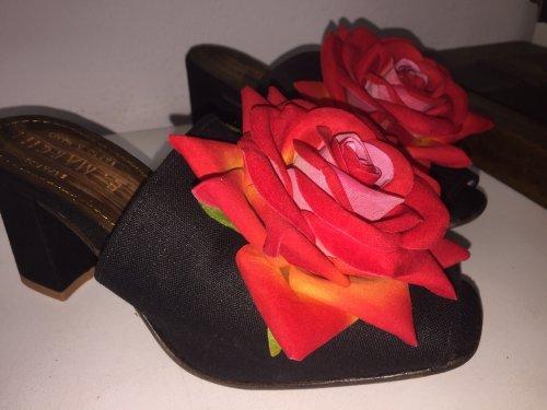Tamanco Fiore Rosa E. MARCHI Mulher