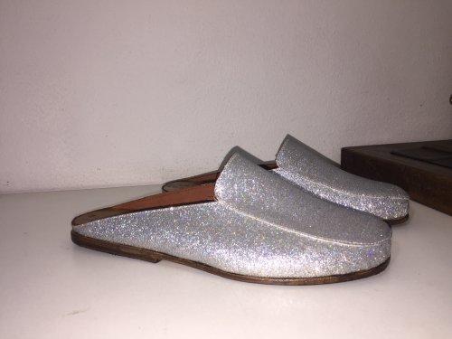 Mule Capri E. MARCHI Glitter cor cinza