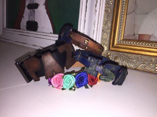 Pulseira Feminina com bordado de flores feitas à mão - Linha Speranza