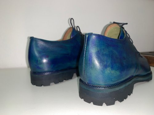Derby Giorgio E. MARCHI Patina cor Azul