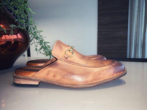 Sapato Mule Siena E. MARCHI Caramelo