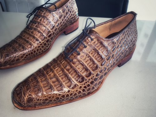 Sapato Oxford E. MARCHI Croco cor Natural