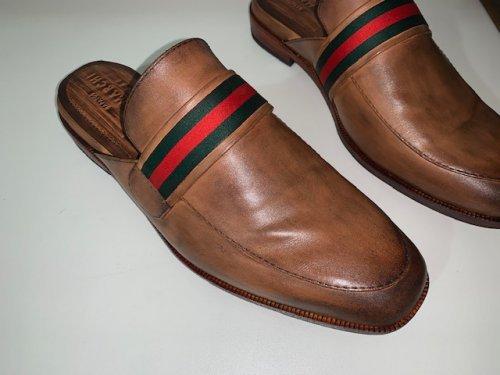 Sapato Mule Verdi E. Marchi Patina Caramelo