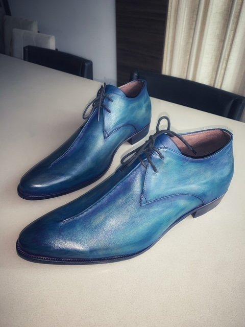 Derby Francisco E. Marchi Patina cor Azul