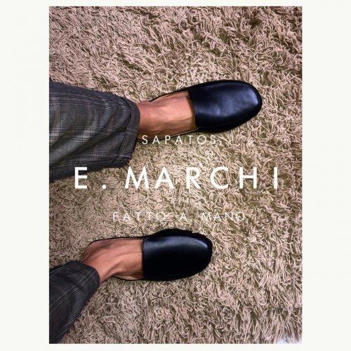 Mule Capri E. MARCHI cor preta