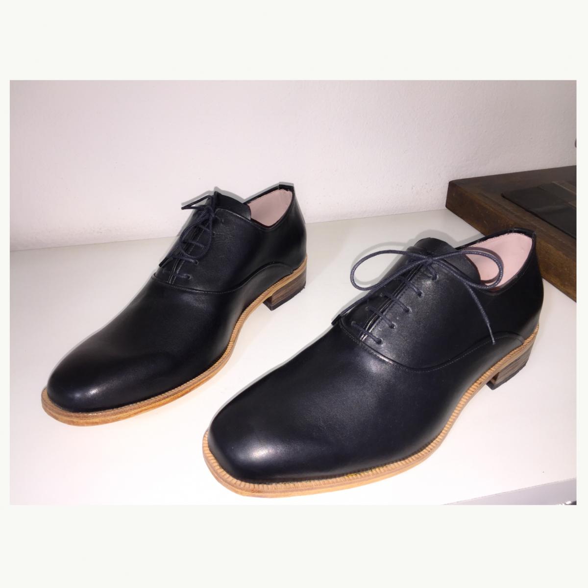 Sapato de Couro Oxford Leonardo Preto