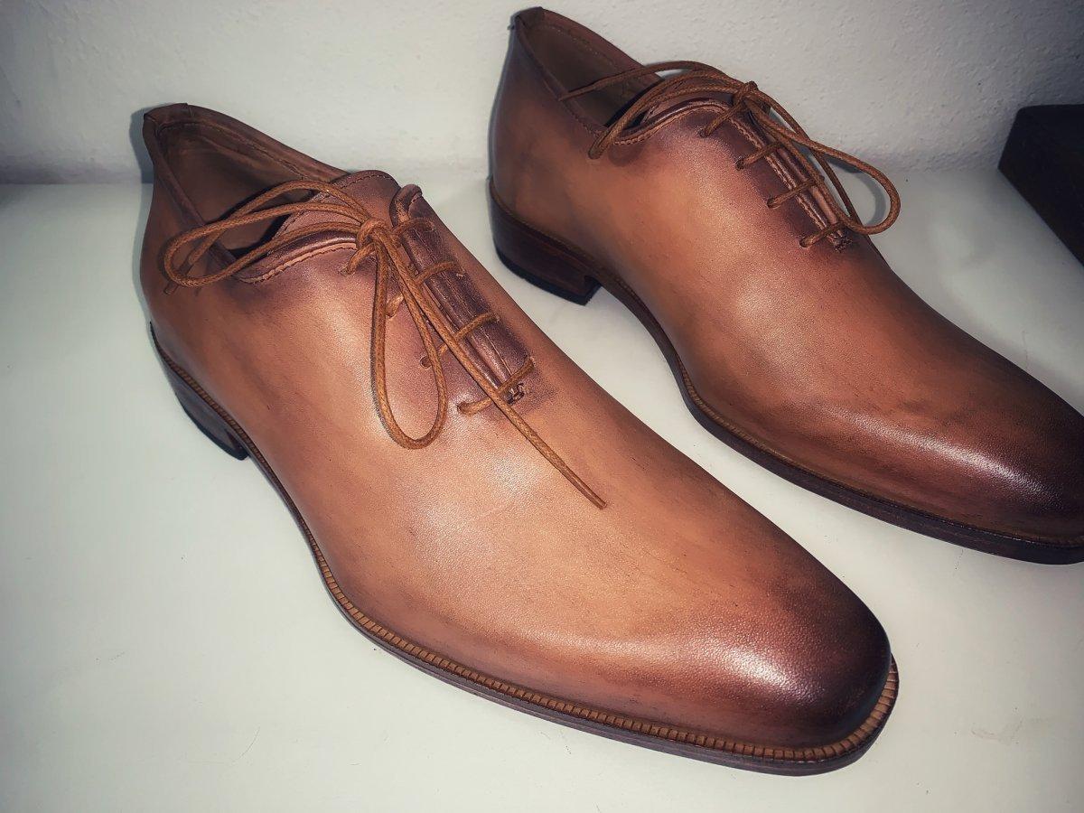Sapato Oxford Mauro E. MARCHI Patina cor caramelo