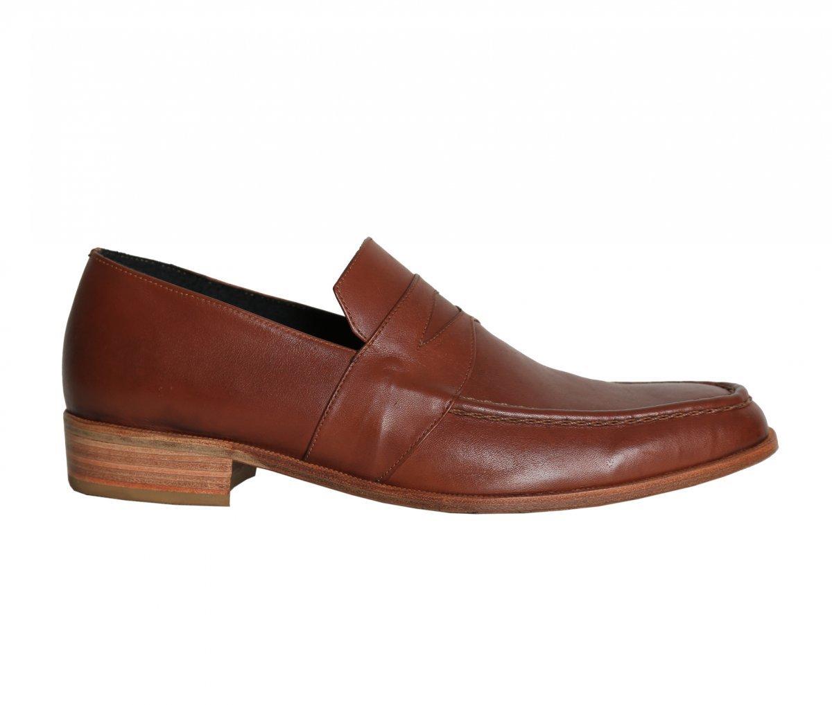 f4a280d2a8 Sapato Social de Couro Loafer Feito a Mão   E. Marchi.