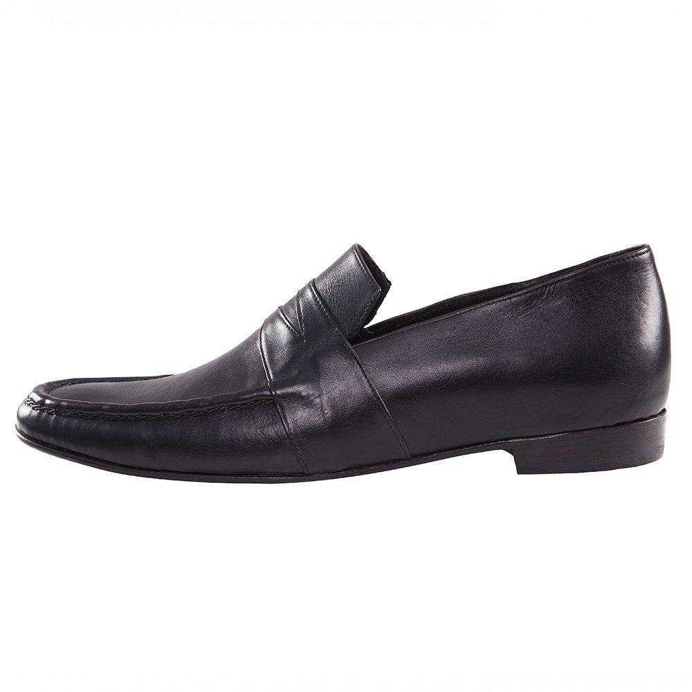 f604b81d79 Sapato Social Loafer de Couro Preto Feito a Mão   E. Marchi.