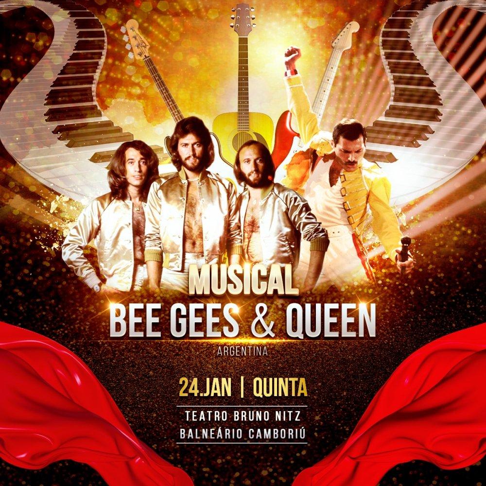 INGRESSOS ESGOTADOS - Musical BEE GEES & QUEEN [Balneário C.]