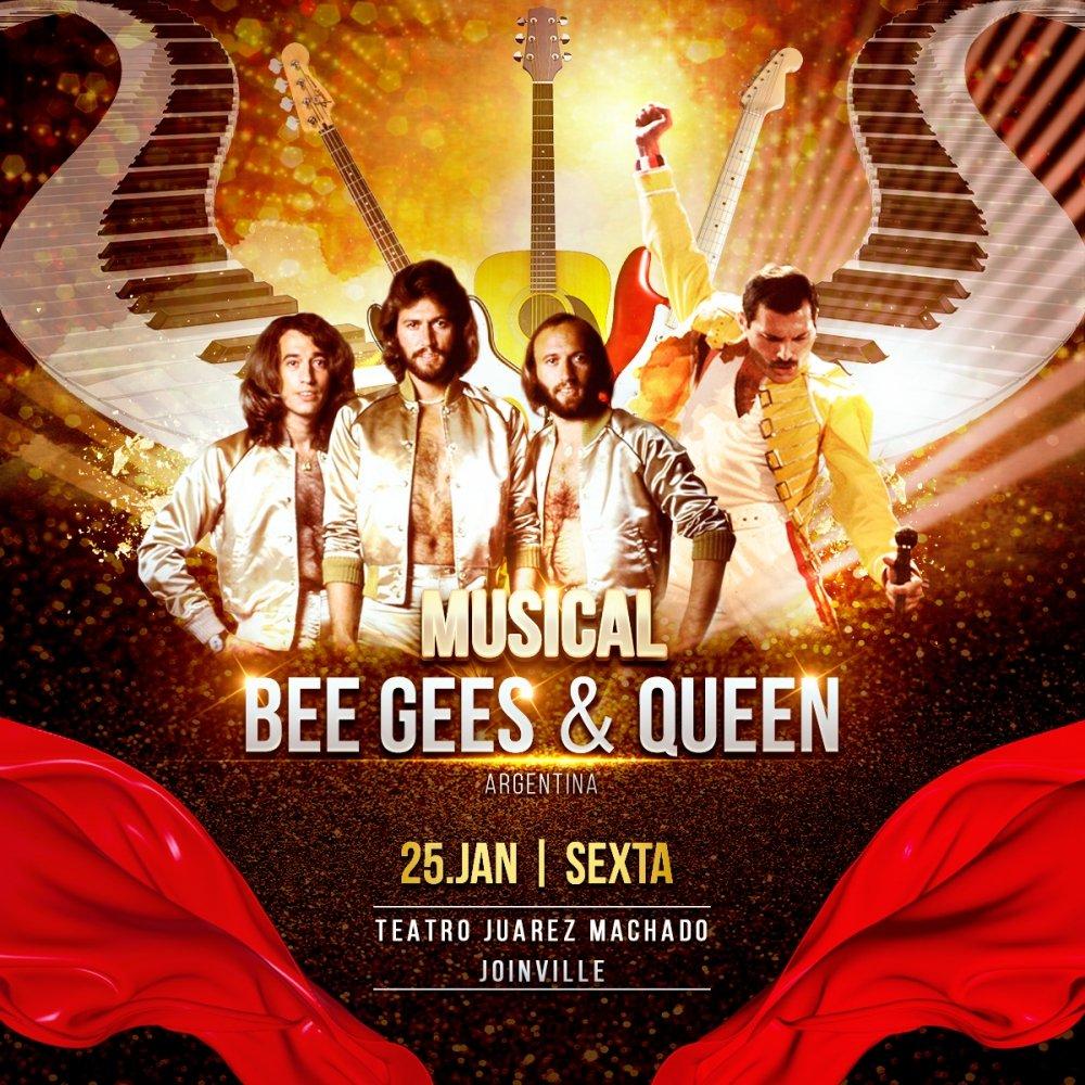 INGRESSOS ESGOTADOS - Musical BEE GEES & QUEEN [Joinville]