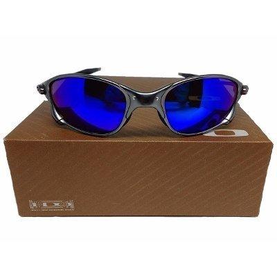 Oculos Oakley Metal 24k Double X Squared Juliet Magic Blue 51b7e00b03
