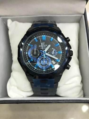 ce23b60f4c1 Relógio Casio Masculino Edifice Efr-554d- Preto E Azul Caixa