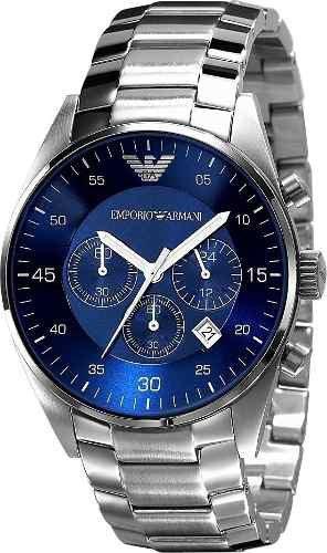Relógio Emporio Armani Ar5860 Prata Azul Original C/garantia