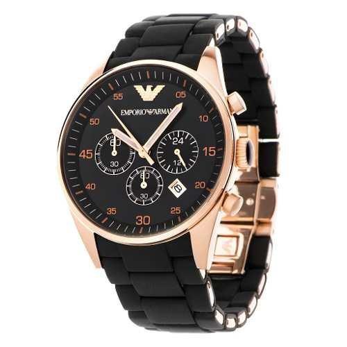 9ea6ca6c300 Relógio Emporio Armani Ar5905 Preto Rose Original Na Caixa