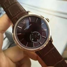 dd2b20446cd Relógio Emporio Armani Ar1887 Marrom Wk00537 12x Sem Juros