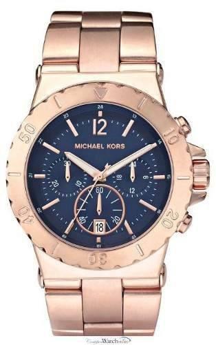 8e49ef17d48eb Relogio Michael Kors - Mk5410 Rose Azul Garantia Original ...