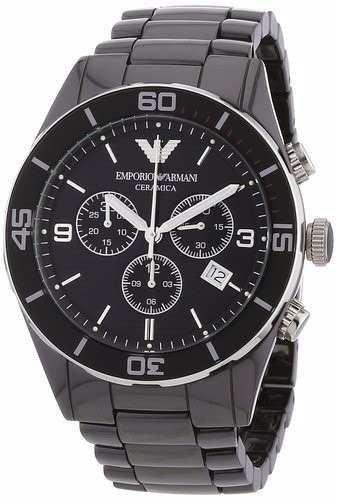 a960fde1595 Relógio Emporio Armani Ar1421 Cerâmica Preto Original 12xs j ...