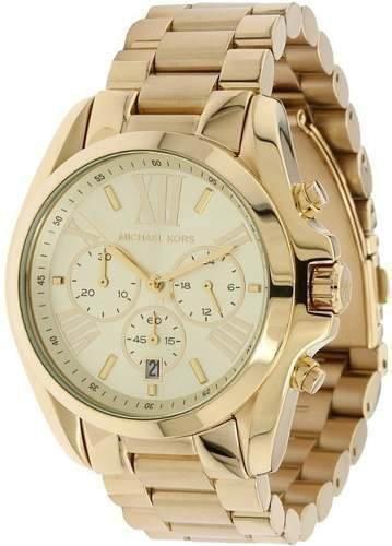 Relógio Michael Kors Mk5605 Ouro Dourado Original Com Caixa
