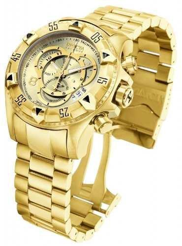 e3232557643 Relógio Invicta 6471 52mm Excursion Original Dourado Gold 18 ...