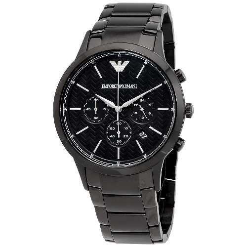 fb2d5e1f073 Relógio Empório Armani Ar2485 Preto Aço Original Garantia