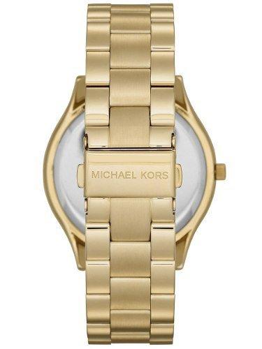 c6898673784dd ... Relógio Michael Kors Luxo Mk3590 Dourado Slim Novo Completo ...