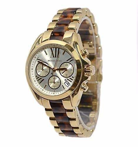 344a6bfb778a6 Relógio Michael Kors Mk5973 Misto Dourado Tartaruga Pequeno ...