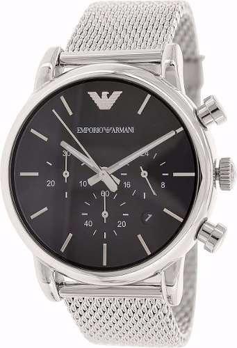 6b255a7df5f Relógio Emporio Armani Ar1811 Aço Escovado Original Completo ...