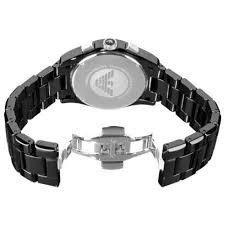 23b17c0b5b0 Relógio Emporio Armani Ar1421 Cerâmica Preto Original Promoç ...