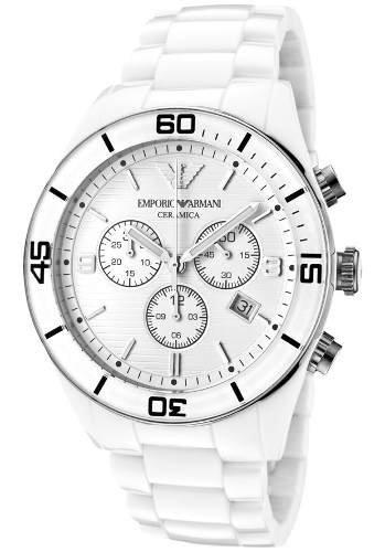 19dd203d79501 Relógio Emporio Armani Ar1424 Cerâmica Original Completo 12x