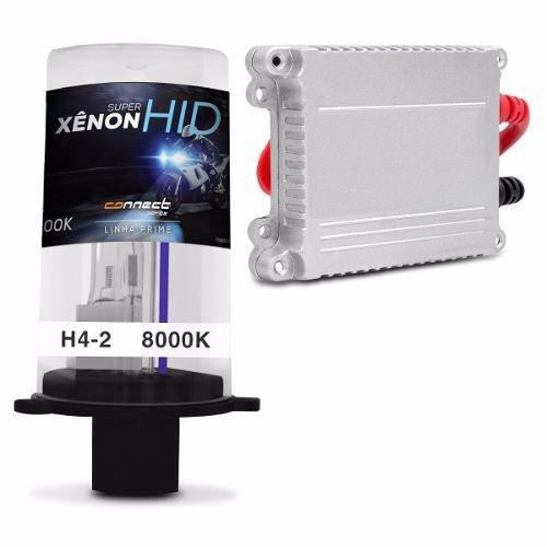 Kit Xenon Moto H4-2 8000k Azulado Completo