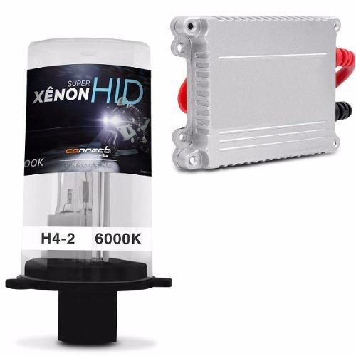 Kit Xenon Moto Slim H4-2 6000k Extremamente Branca