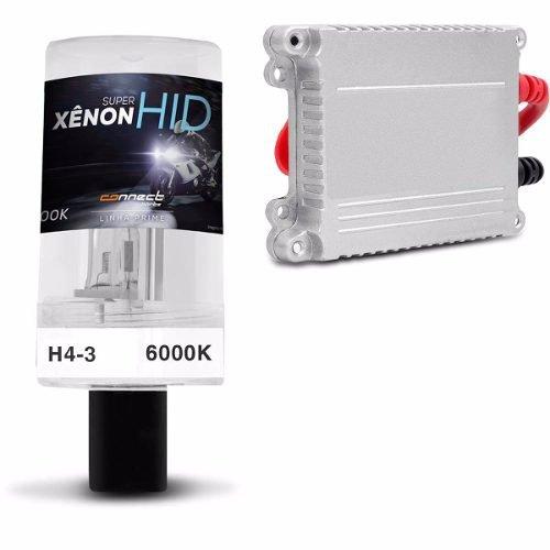 Kit Bi Xenon Moto H4-3 6000 8000k Reator Slin H4 Luz Lampada