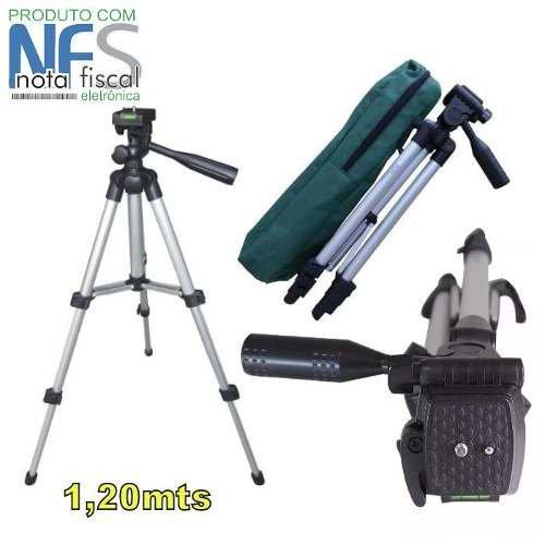 Tripé Universal Camera Fotografico Profissional 1,2mt