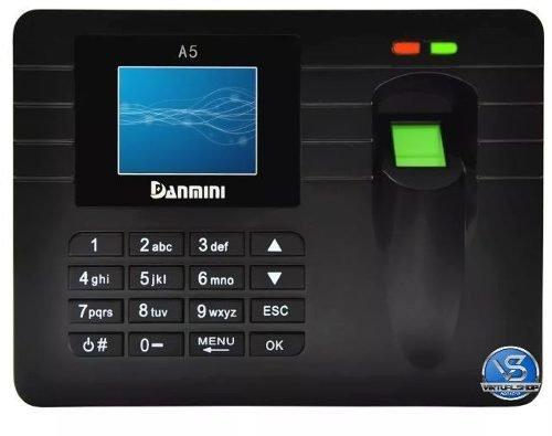 Relógio Ponto Biométrico Digital Português Usb Pen Drive