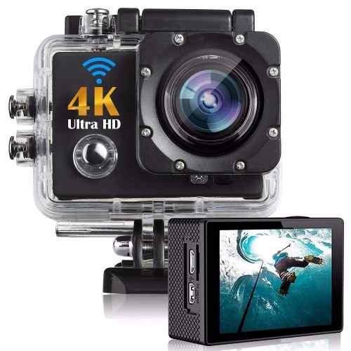 Camera 4k Filmadora Wifi Prova D` Água Capacete  Moto Carro