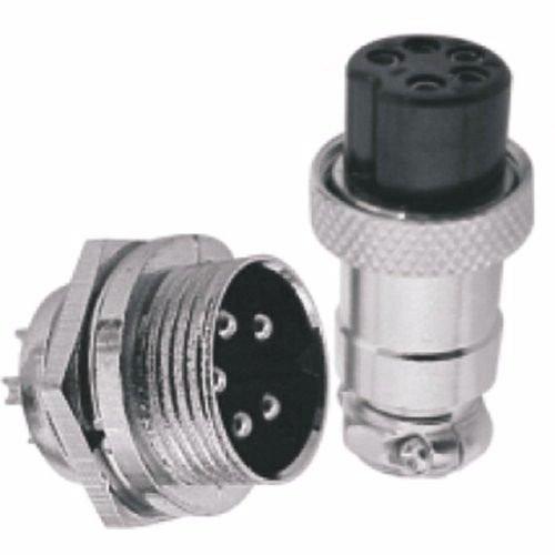 Conector Fêmea/macho De Linha Microfone 5 Pinos Genérico
