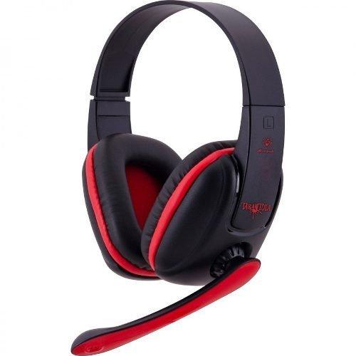 Fone De Ouvido Headset Gamer Microfone P2 Preto Vermelho