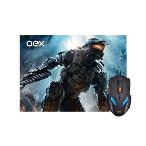 Combo Gamer Mouse 07 Cores + Mousepad Oex - 2400dpi Mc100