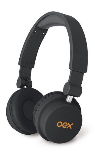 Fone De Ouvido Headphone Oex Hp103 Microfone Dobrável Preto