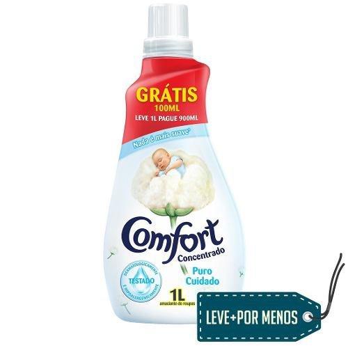 Amaciante Concentrado Comfort Puro, Leve 1l Pague 900ml