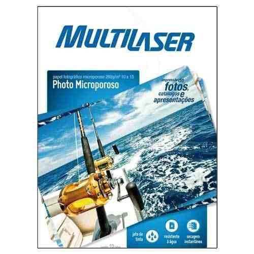 Papel Fotográfico Microporoso A4 10 Flhas 260gr - Multilaser