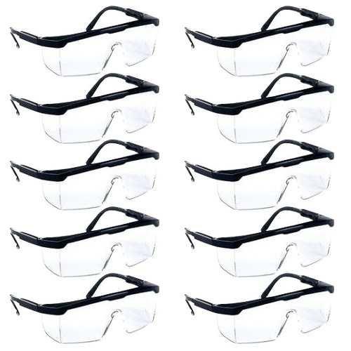 Óculos De Segurança Proteção Visual Incolor Kit 10 Unidades