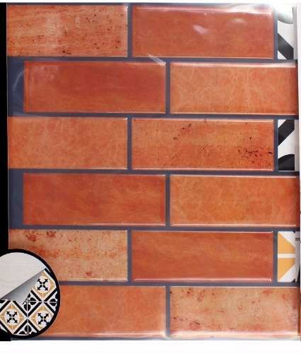 Papel De Parede Adesivo Tijolo 3d Cozinha E Banheiro C4369