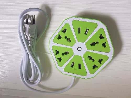 10 Extensão Elétrica Flor Bivolt C/ 4 Tomadas 4 Entrada Usb